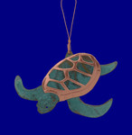 Copper Sea Turtle Ornament