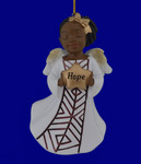 African American Hope Girl Angel Ornament - Figurine