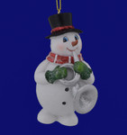 Snowman Musician with Horn Ornament C6778