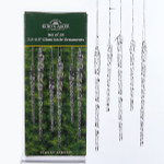 "Clear Glass Icicle Ornaments, 3.5 & 5.5"",  24 pc set, KAW3730"
