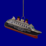 Silver Black Red Cruise Ship Ornament 133289