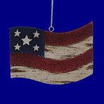 "Country Old Glory Flag Ornament, 2 3/4 x 3 3/4"", MW135805"