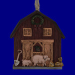 Pigs and Barn Ornament 133305
