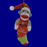 First Christmas Sock Monkey Ornament