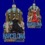 Barcelona Spain Glass Ornament C7568