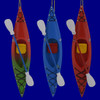 Colorful Sit-In Kayak Ornaments A152
