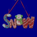 Cookie Snow Sign Ornament