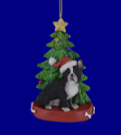 French Bulldog with Christmas Tree Ornament