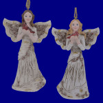 Winter Birch and Red Berries Angel Ornament