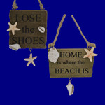 Seashells on Wood Beach Sign Ornament