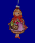 Little Red Riding Hood Glass Ornament