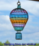 Hot Air Balloon Egyptian Glass Ornament