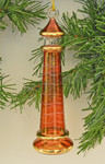 Red Lighthouse Egyptian Glass Ornament