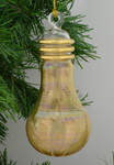 "Yellow Light Bulb Mouth-Blown Egyptian Glass Ornament, 5 1/2"", EM10289"