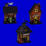 Metal Haunted House Ornaments