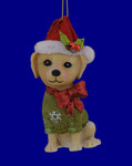 Dressed Up, Sitting Up Mutt Dog Ornament