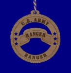 US Army Ranger Wood Ornament