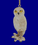Comical Dangle Legs Snowy Owl Ornament