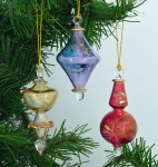 3 Piece Mini - Small Mouth-Blown Egyptian Glass Ornaments Set
