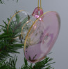 Teacup and Saucer Mouth-Blown Egyptian Glass Ornament Pink back