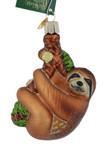 Sloth Glass Ornament 12523 Old World Christmas