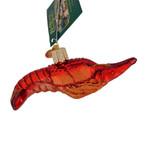 """Crawfish Glass Ornament, 4"""", OWC# 12525"""