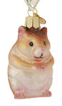 """Hamster Glass Ornament, 2 3/4"""", OWC# 12530"""