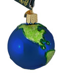 Planet Earth Glass Ornament 22038 Old World Christmas