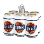 Six Pack Of Beer Glass Ornament 32333 Old World Christmas