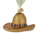 Cowboy Hat Glass Ornament 32354 Old World Christmas