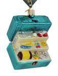 Fishing Tackle Box Glass Ornament 44123 Old World Christmas