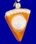 "Pumpkin Pie Glass Ornament, 3 3/8"", OWC #32019"