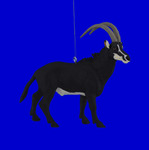 Sable African Antelope Ornament Decor