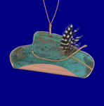 Cowboy Hat Copper Ornament