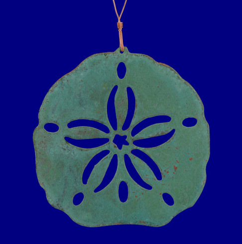 Sand Dollar Copper Ornament