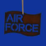 Rustic Cut Steel Air Force Flag Ornament