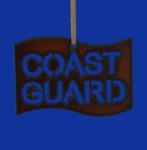 """Rustic Cut Steel Coast Guard Flag Ornament, 2 3/8 x 3 1/2"""", RU10978 - USA"""