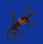 """Rustic Cut Steel Lizard Ornament, 4"""", RU10985 - USA"""