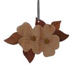 Dogwood Flower Intarsia Wood Ornament