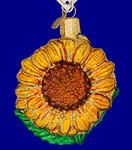 """Garden Sunflower Glass Ornament - Kansas Flower, 3 1/8"""", OWC #36124"""