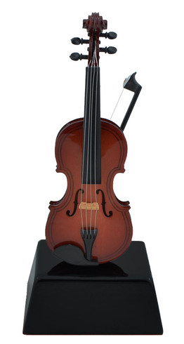 Mini Violin with Bow on Stand Gif, Decor or Trophy