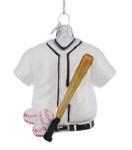 Baseball Themed Sports Glass Ornament Kurt Adler