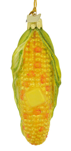 Buttered Corn on the Cob Glass Ornament nb1281