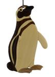 Penguin Intarsia Wood Ornament