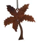 Palm Tree Intarsia Wood Ornament