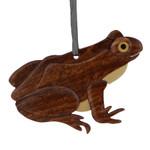 Frog Intarsia Wood Ornament