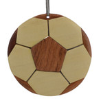Soccer Ball Club Intarsia Wood Ornament