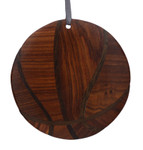 Basketball Intarsia Wood Ornament