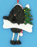"Personalized Black Cocker Spaniel Ornament, 4 3/4"", #EI35356-78c"