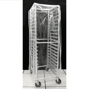 PAN RACK COVER, 20 TIER, CLEAR